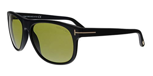 Tom Ford FT056358 02N Matte Black Olivier Square Sunglasses Lens Category 2 Siz (Tom Ford Sonnenbrillen Damen Sale)