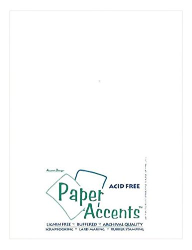 Accent Design Paper Accents ADP8511-25.922 No.29 8.5'' x 11'' Bright White Art and Craft Vellum by Accent Design Paper Accents