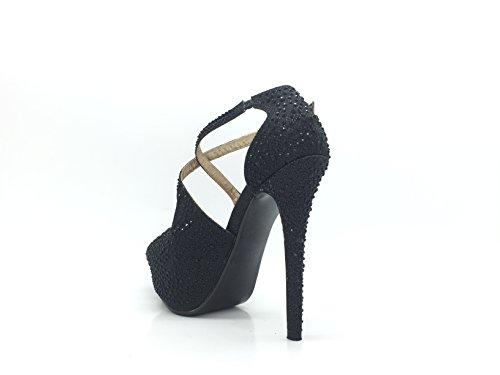 CHIC NANA Women's Court Shoes Black wFItNpW