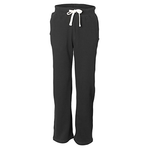 (Weatherproof 7766 Men's Adult Cross Weave Open-Bottom Blend Sweatpants Black Medium)