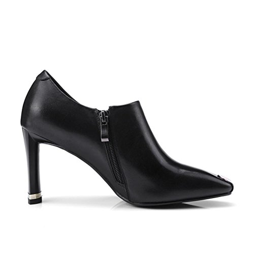 Negro Cuadrado Talones 38 5 35 Fiesta Mujeres Bloquear 42 Grande Vestir Corte Moda 5 Señoras Zapatos Black Tamaño Nvxie Eur uk Tobillo Zapatillas eur39uk665 PAU8XqZZ