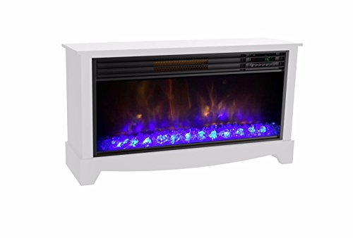 LifeSmart LifeZone Electric Infrared Quartz Standing Fireplace Heater, White Infrared Lifesmart