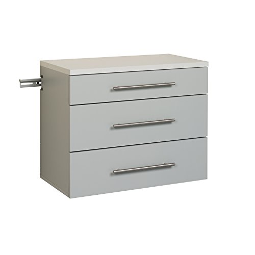 Prepac GSCW-0730-1 Hang-Ups 3-Drawer Base Storage Cabinet, Light Gray