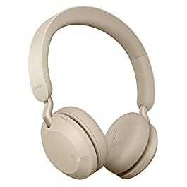 Jabra Elite 45h, Gold Beige – On-Ear Wireless Headphones with Up to 50 Hours of Battery Life, Superior Sound with…