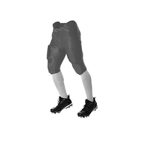 Alleson Athletic Youth Solo Series Integrated Football Pant, Charcoal, ()