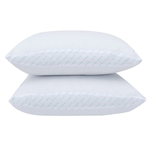 Mainstay 100% Cotton Extra-Firm Support Pillow Set of 2, King Size + Free Laundry Mesh Bag