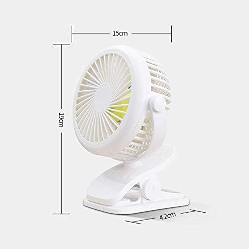 WSJ Kleine ventilator Oplaadbare slaapzaal Stille draagbare ventilator 15 X 19 X 4,2 cm, groen XBu7o96E