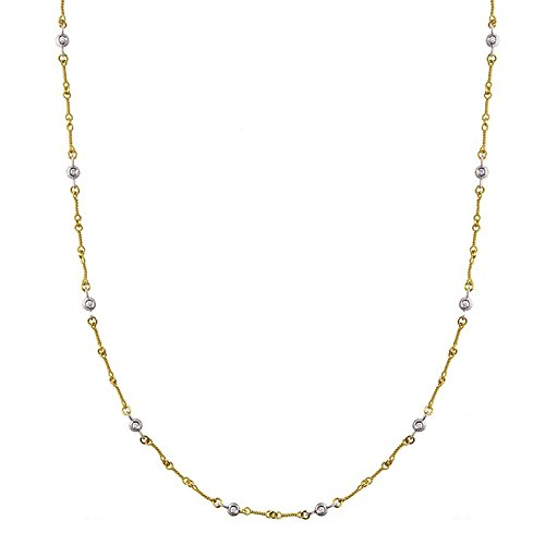 18 K Gelb Gold Diamonds by das Zoll Texturierte Link Karabinerverschluss Halskette .60 DWT – Länge Optionen  41 46  46.0 Zentimeter