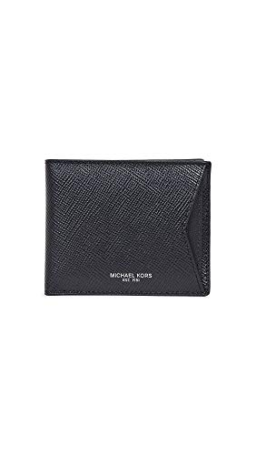 Harrison Card - Michael Kors Men's Harrison Wallet with Card Case, Black, One Size