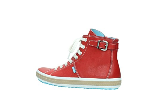 Leather 250 Womens Biker Wolky 1225 Trainers Red aqpPRZnxw