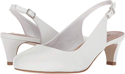 Cashmere Leather Heels - Walking Cradles Women's Jolly White Cashmere 8.5 D US