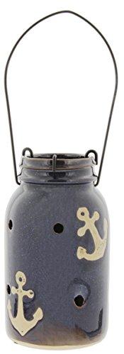 Distinctive Designs Ceramic Candle Lantern Anchor Motif 7