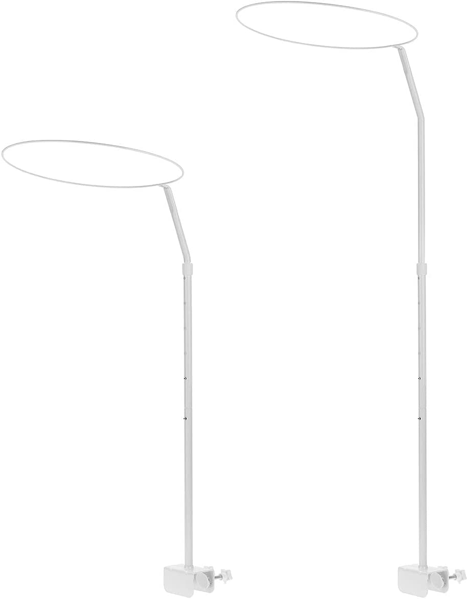 Universal Canopy Drape Holder Rod Pole Bar Fits Baby Cot Bed Crib Basket