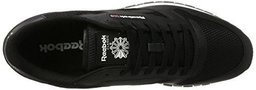 gum Classic Coal White Uomo Black Leather Reebok Snicker NM Nero AxwpznBq