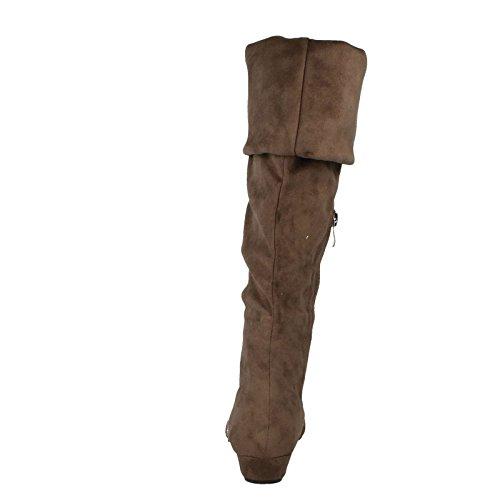 Spot On Damen Durchgängies Plateau Sandalen mit Keilabsatz