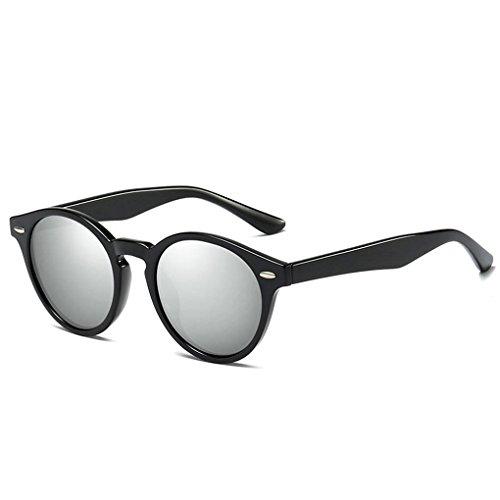 de de retro Marco Ronda gafas las forma PC lentes unisex protección 3 Mujeres conducción de de polarizadas Hombres en Coolsir sol Gafas UV400 Yq4gH4