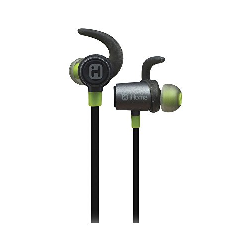 IHOME iB73GQC Water-Resistant Bluetooth  Sport Clip Earbuds