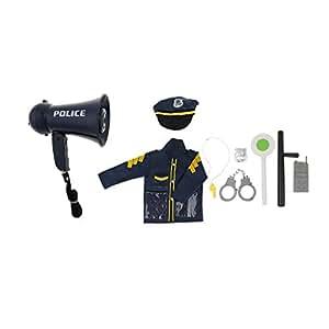 Homyl Juguete de Simulación de Juegos de Niños Disfraz de Oficial de Policía de Tránsito