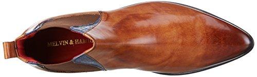 Melvin&Hamilton Toni 6, Zapatillas de Estar por Casa para Hombre Beige - Beige (Crust Tan/ Baby Croco E-Blue/Ela.Brown/LS)
