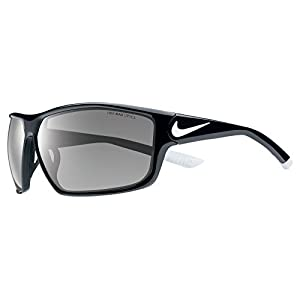Nike EV0865-001 Ignition Sunglasses (One Size), Black/White, Grey Lens