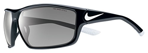 Nike EV0865-001 Ignition Sunglasses (One Size), Black/White, Grey - Sunglasses Baseball Nike