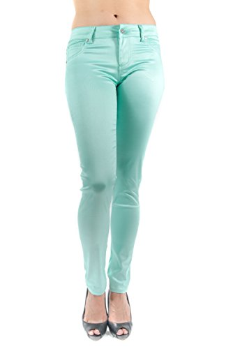 mint colored jeans - 2