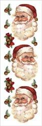 E-Z Rub-On Transfers - Santa Faces & Jingle ()