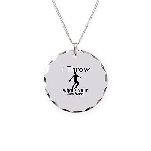 CafePress - I Throw - Charm Necklace with Round ()