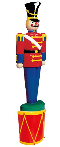 Life Size Half Toy Soldiers Outdoor Christmas Lawn Decorations [55-24015-119 and 55-10018-HALF] ()