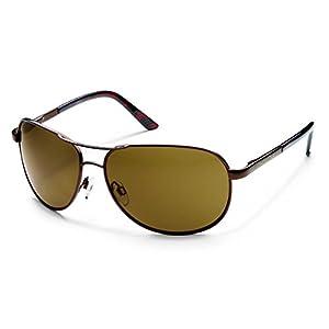 Suncloud Optics Aviator Sunglasses (Brown with Brown Polarized Lens)