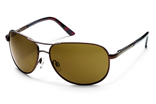 Suncloud Optics Aviator Sunglasses (Brown with Brown Polarized - Sunglasses Rei