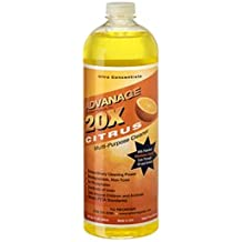 Advanage 20X Citrus Degreaser 32 Ounce, Multi-Purpose Cleaner Concentrate Makes 20 Quarts, Eco Friendly and Child Safe
