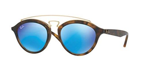 Matte Ray RB4257F 51 Sunglasses Blue Light Mirror Green Ban 609255 Havana Frame UUWHpn