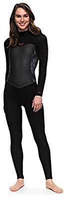 Roxy Women's Syncro Series 3/2mm Back Zip Full Wetsuit - Classic Black - 10