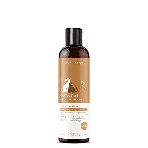 kin+kind Oatmeal Dog Shampoo with Colloidal Oatmeal: Natural, Organic, Hypoallergenic, and Moisturizing for Dry or Sensitive Skin (Best Kind Of Oatmeal)