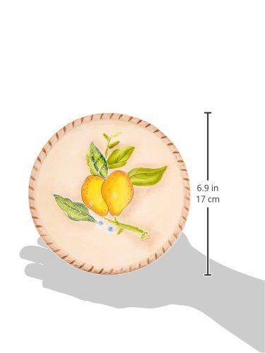 ATD 50316 6.375 Inch Yellow Lemons Garden Sandwich Plate