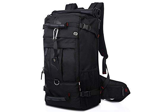 Vintage Unisex Casual Outdoor and Indoor Men's Outdoor Sports Oxford Cloth Multifunctional Waterproof Hiking Climbing Bag(Black) Travel Outdoor