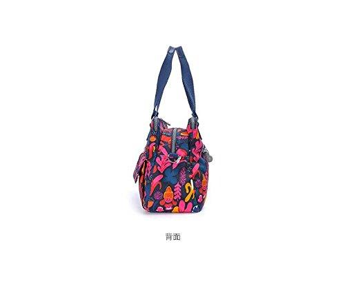 femelle sacoche Zazero loisirs nbsp;NEUF en Toile flower en tissu Mode Sac Sac Paeonia à main Tampon 2018 lactiflora Blue nylon qZxgqrwv