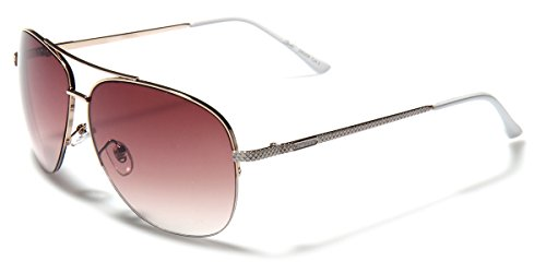 Giselle Women's Semi-Rimless Metal Frame Fashion Aviator - 59mm Aviator Semi Rimless Sunglasses