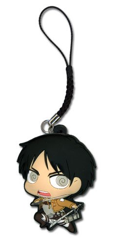 Attack on Titan Cell Phone Charm New SD Eren Toys Anime Licensed ge17204