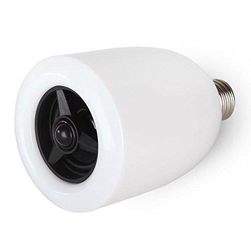 Smart LED Lampadina altoparlante bluetooth valentines Day Gift, 6W E27RGB che cambia la lampada wireless stereo audio smartphone controllato dimmerabili multicolore cambiare colore luci per iPhone,