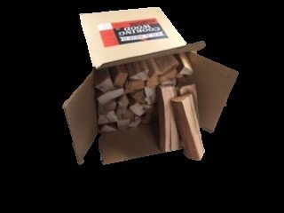 Smoak Firewood's Cooking Wood Logs - USDA Certified Kiln Dried (Hickory, 25-30 lbs) - Hickory Wood