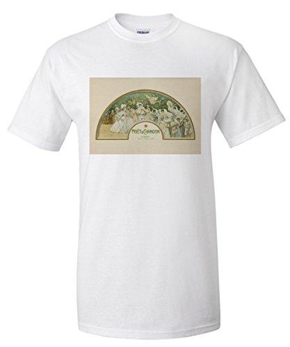 moet-and-chandon-fan-vintage-poster-artist-clairin-france-white-t-shirt-medium