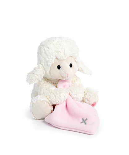 DEMDACO Jesus Loves Me Lamb With Cross Blanket Children's Plush Stuffed Animal Toy -