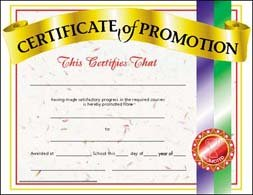 amazon com certificate of promotion academic awards and