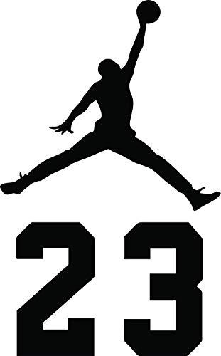 new styles 82938 a0f48 NBA Jordan 23 Jumpman Logo AIR Huge Vinyl Decal Sticker for Wall Car Room  Windows (