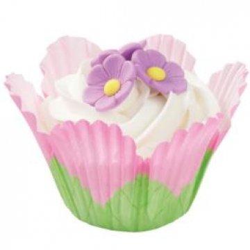 Fancy Standard Baking Cups-Petal Pink 24/Pkg by Wilton