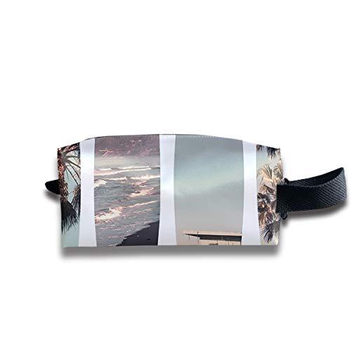 SweetieP California Beach Pencil Case Pen Zipper Bag Coin Organizer Makeup Costmetic Bag Portable Pouch ()