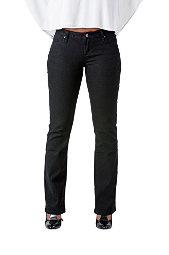 Old Navy Classic Rise (Poetic Justice Curvy Women's Black Stretch Denim Basic Slim Skinny Bootcut Jeans Size 30 x)