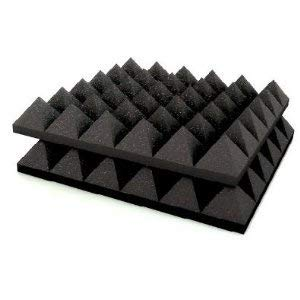 YGM Acoustic Foams?  Set of 2  Pyramid Acoustic Foam with Supreme Echo Absorption